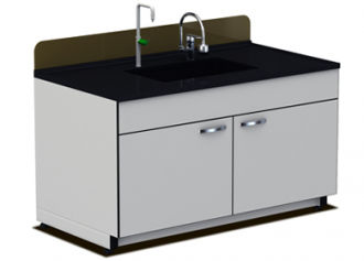 Laboratory bench with sink - max. 1 500 x 750 x 800 mm | CLF-1601 ...