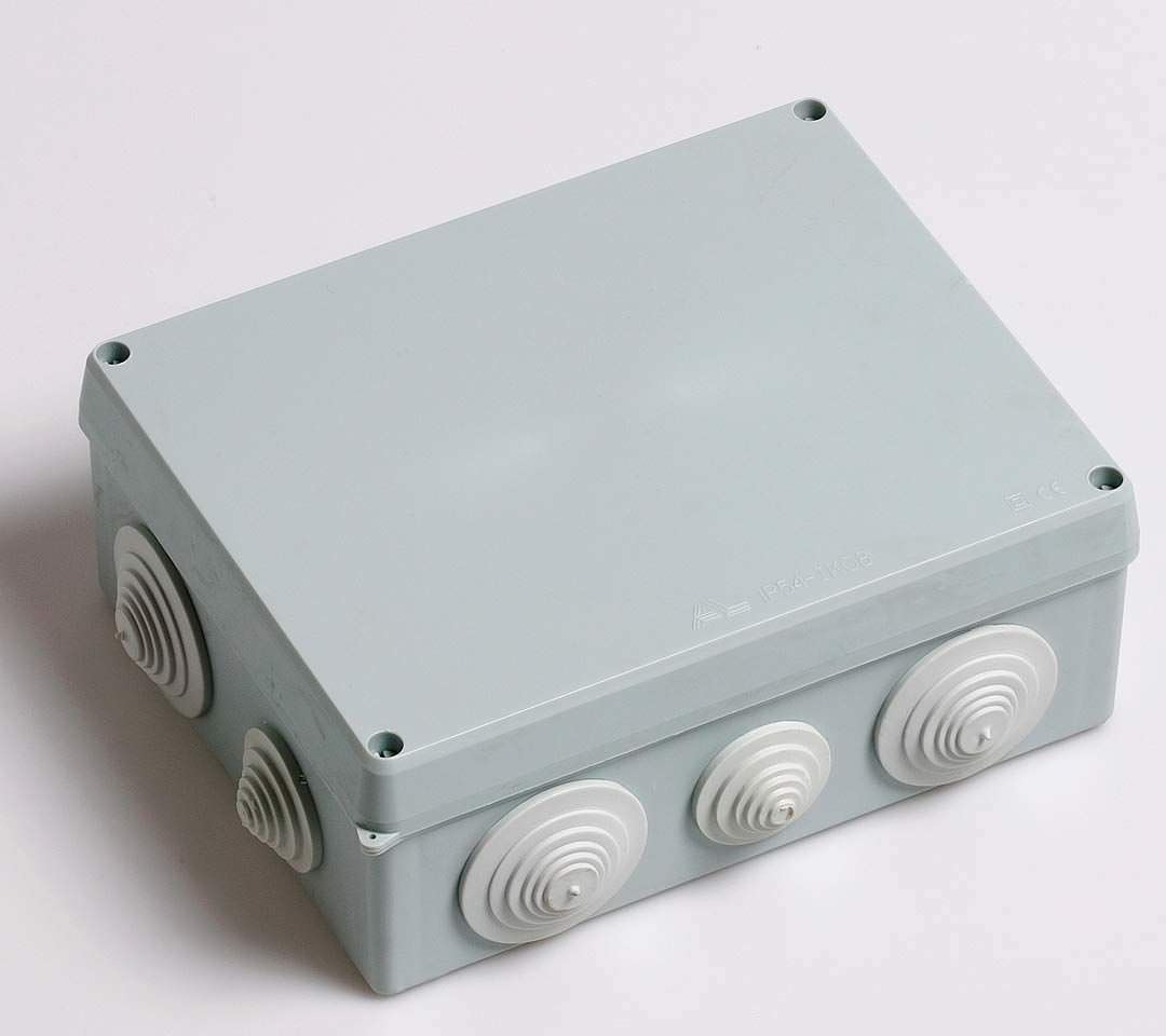 Surface mounted junction box / insulated / plastic / with ...