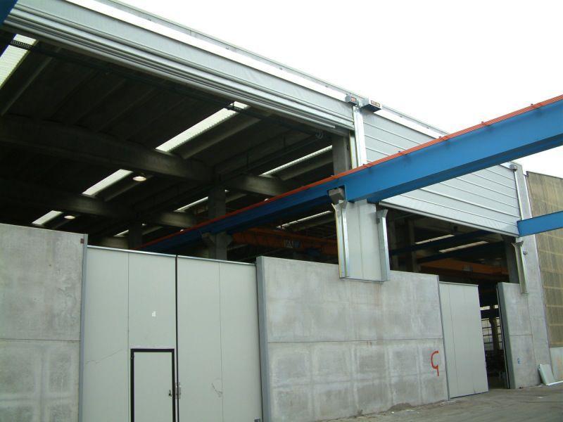 Folding door / PVC / for overhead cranes / industrial - PS 3000 PB ...