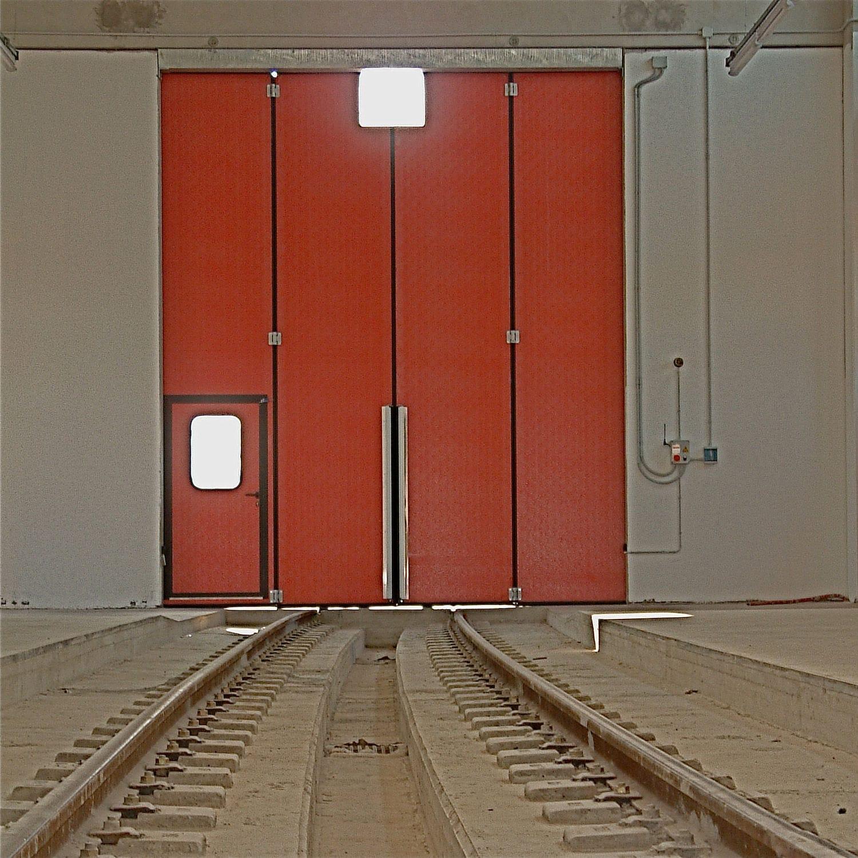 Folding door / hangar / industrial - PG3000 TRAIN - SACIL HLB - Videos