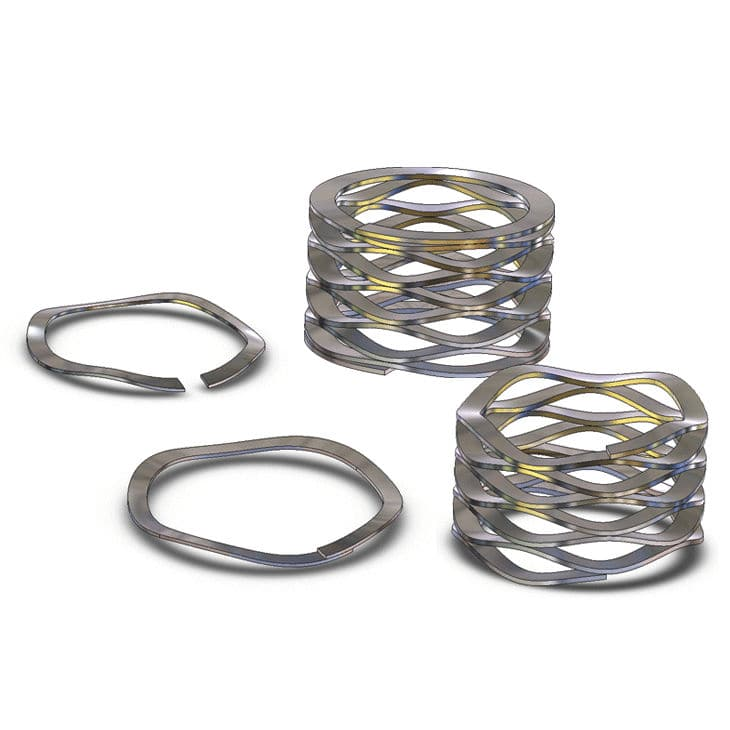 Compression spring / flat wire / wave / steel - WSM series - Rotor ...