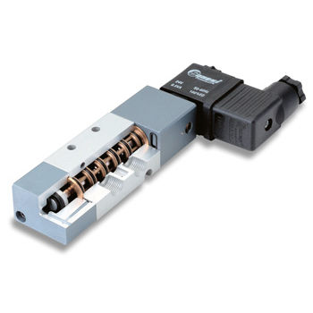 Spool hydraulic directional control valve / pneumatically