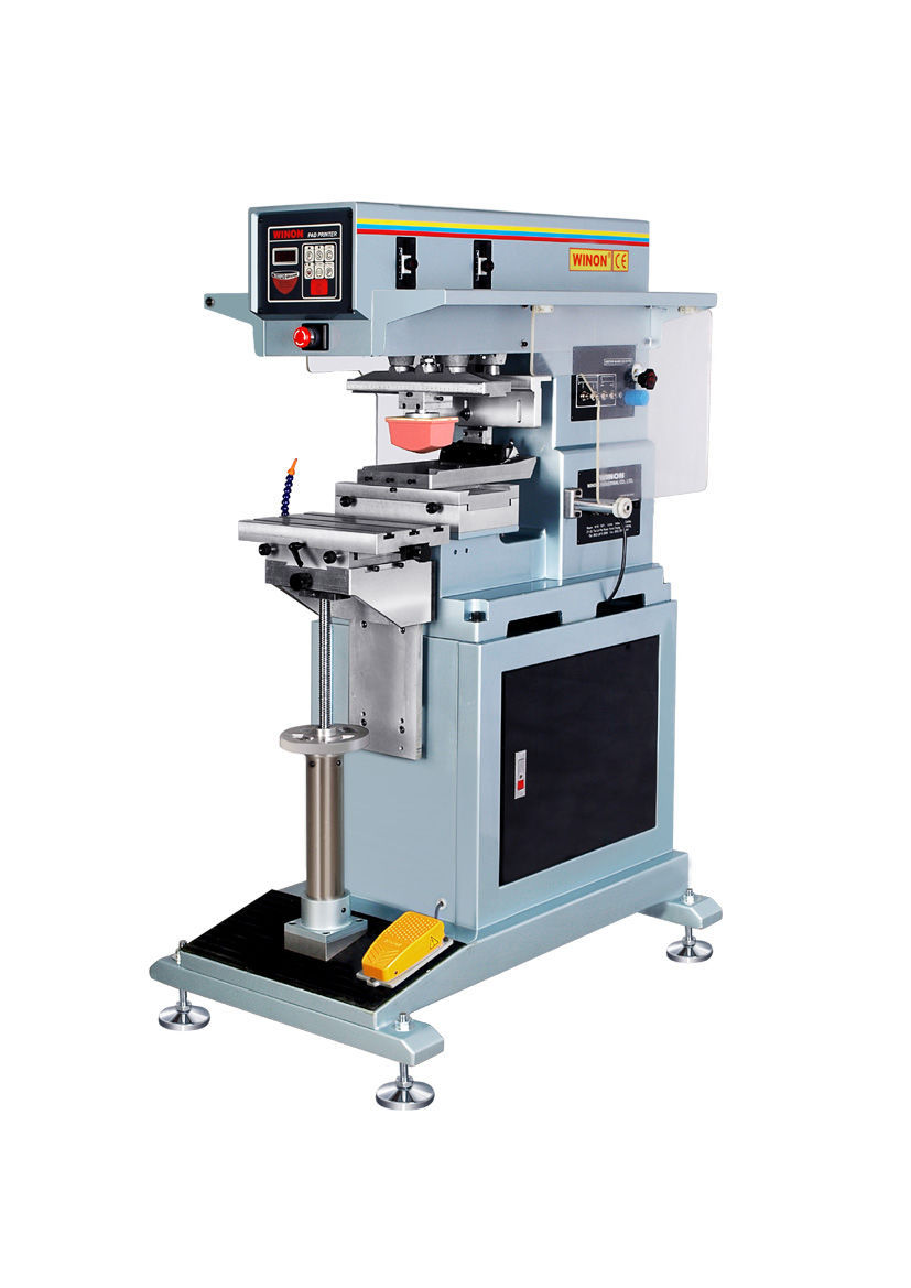 Pad printing machine with open ink cup / for the electronics