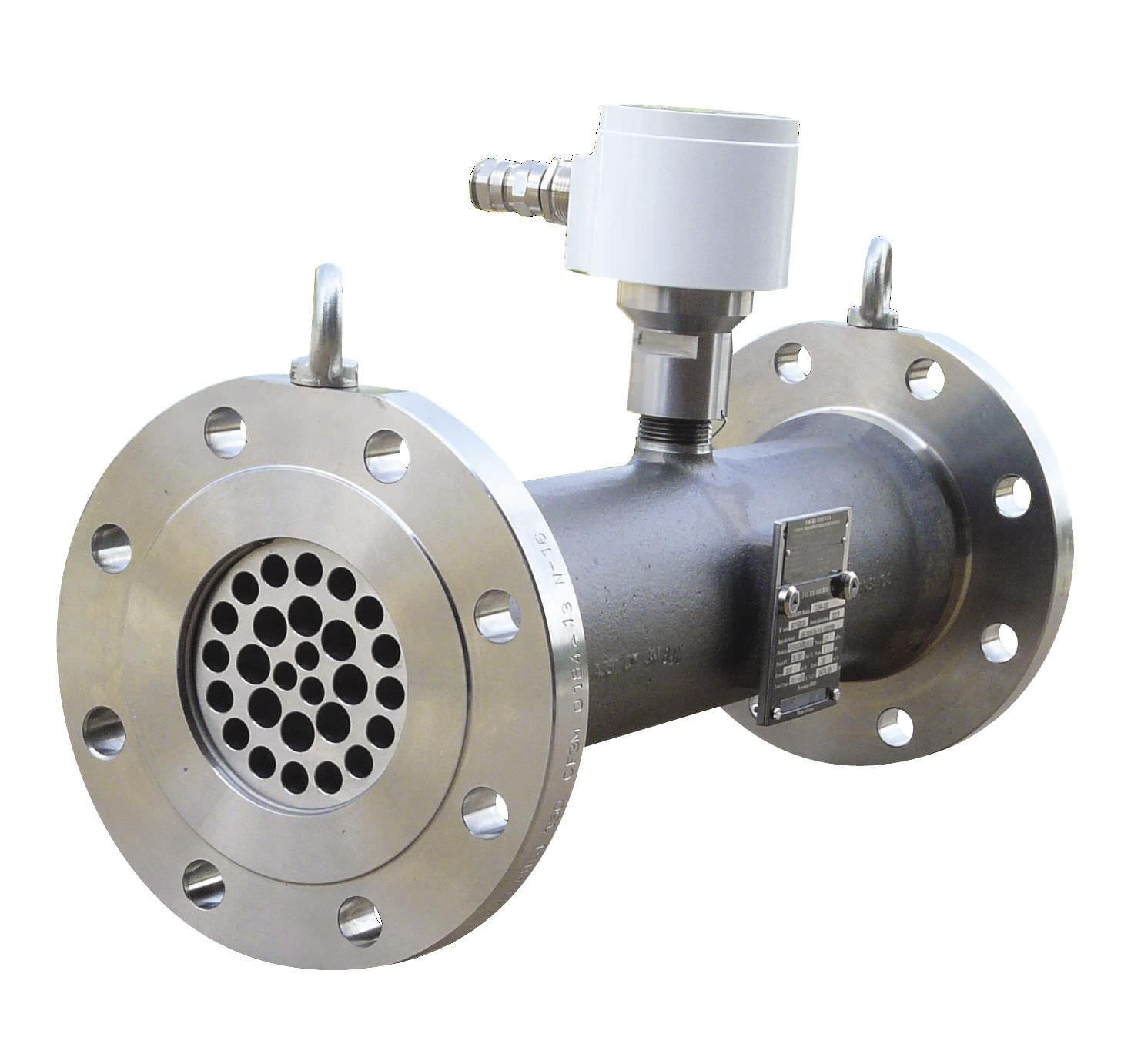 Turbine flow meter for liquids in line for custody transfer