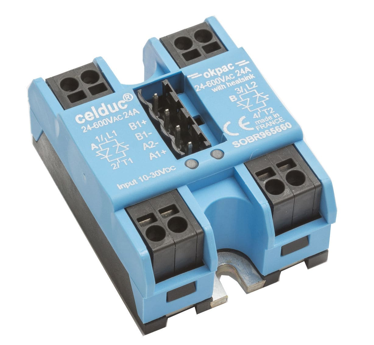 Ac Output Solid State Relay Two Phase Sobr Series Celduc Relais For