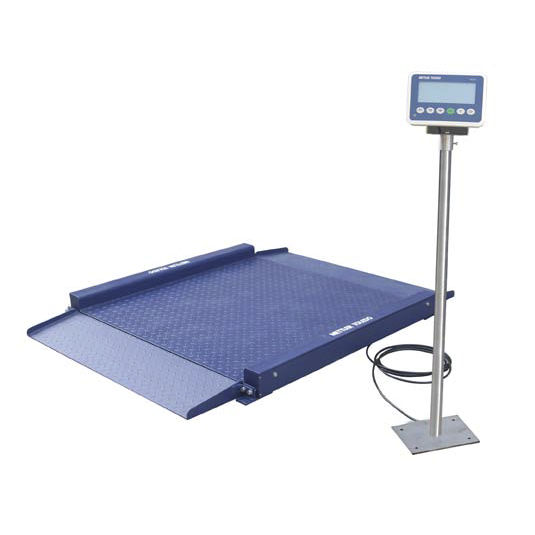 Delightful Low Profile Floor Scales / With Separate Indicator / Stainless Steel   BUA  Series