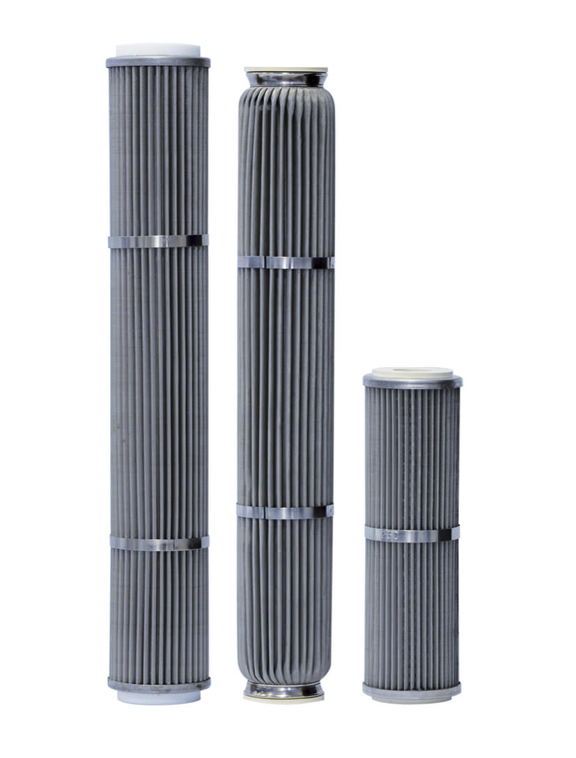Water filter cartridge / fine / stainless steel / pleated - CP, CL ...