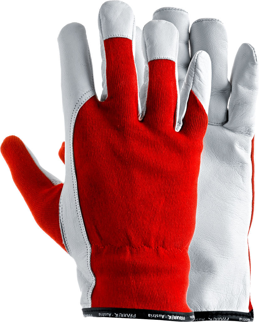 Goat leather work gloves - Handling Gloves Mechanical Protection Cotton Allround 100006