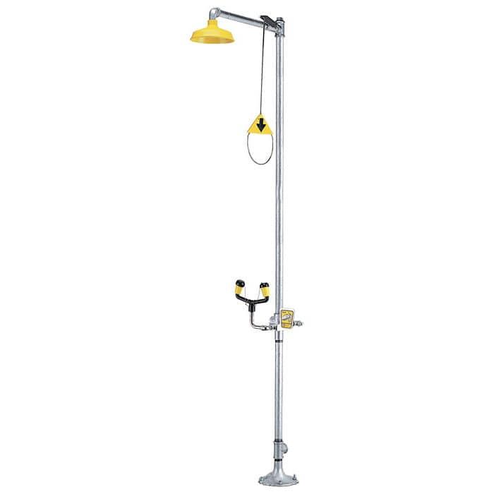 Floor-standing shower / indoor / with eyewash station - 01050205 ...