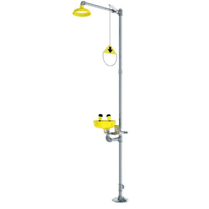 Floor-standing shower / indoor / with eyewash station - 01050251 ...