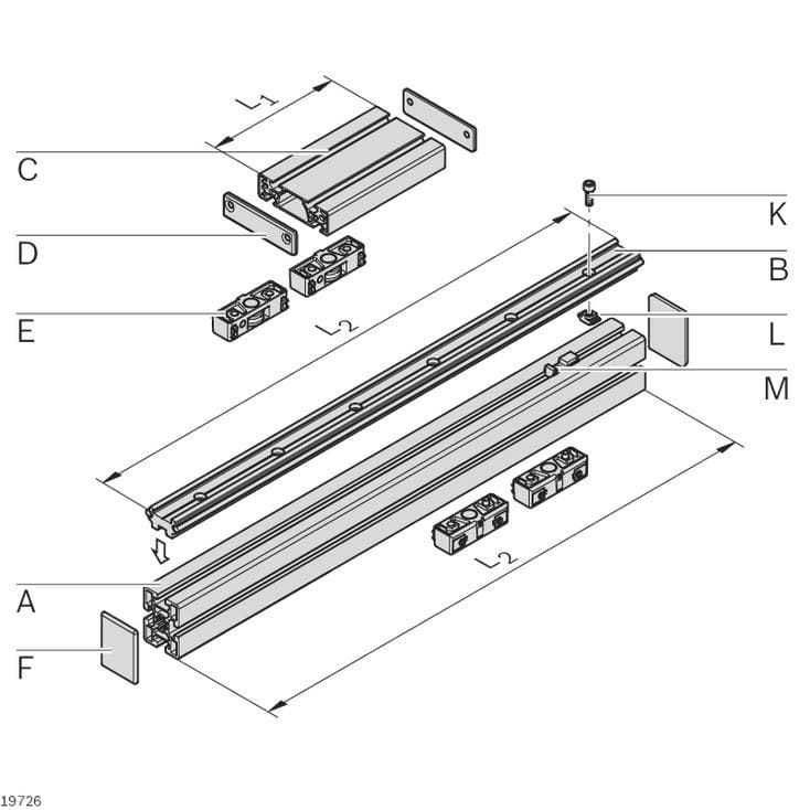 Roller guide - LF series - Rexroth - Assembly Technology