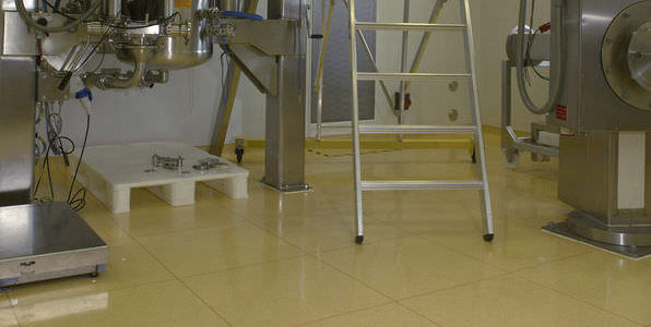 PVC Floor Tile For Clean Rooms GTI Control GERFLOR - How to clean pvc flooring