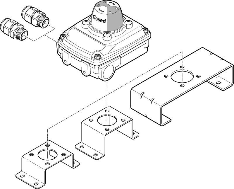 Rotary Position Sensor Contactless Magneto Resistive Magnetic
