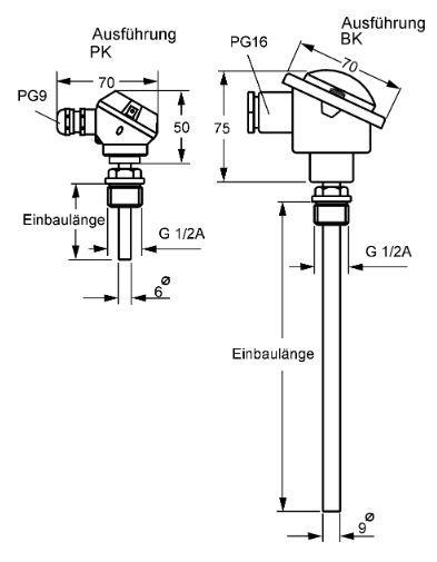 Pt100 Temperature Sensor Rtd Type K Thermocouple Type J
