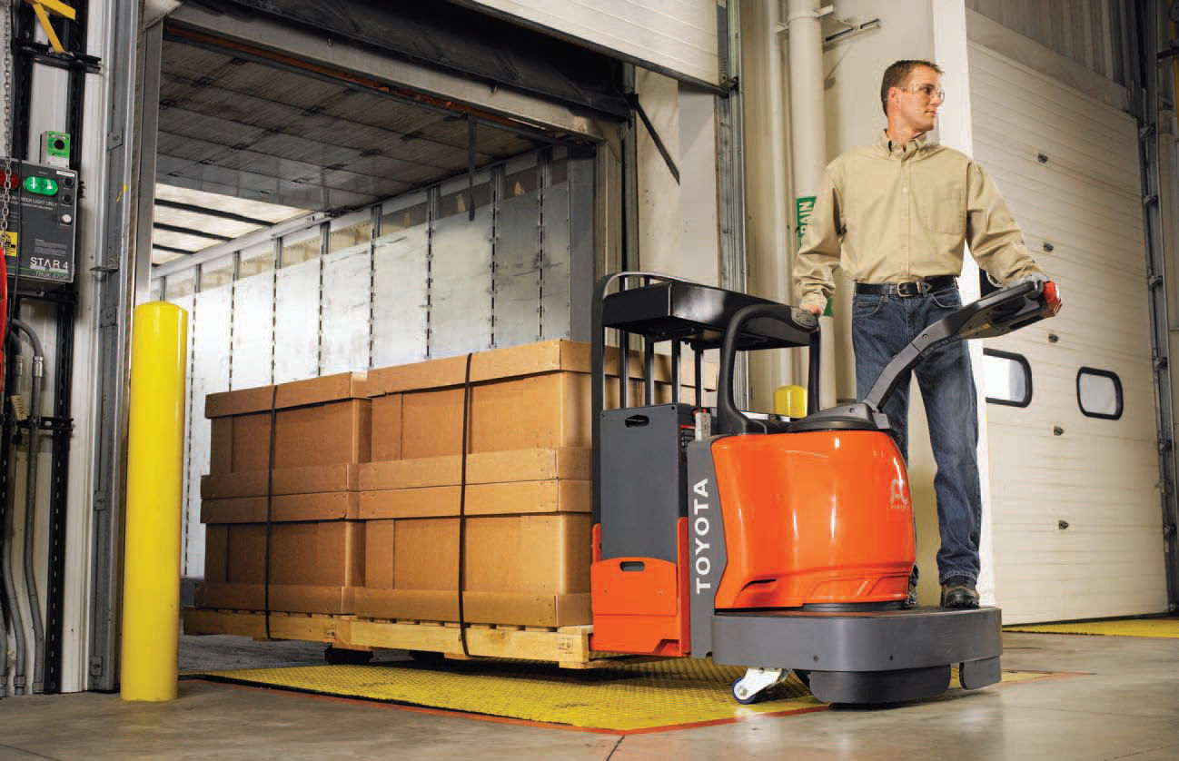 Electric pallet truck / with rider platform / multifunction ...