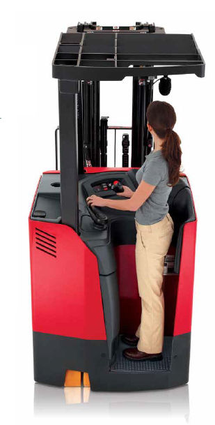 Electric forklift / stand-on / counterbalanced / handling - 4150 ...