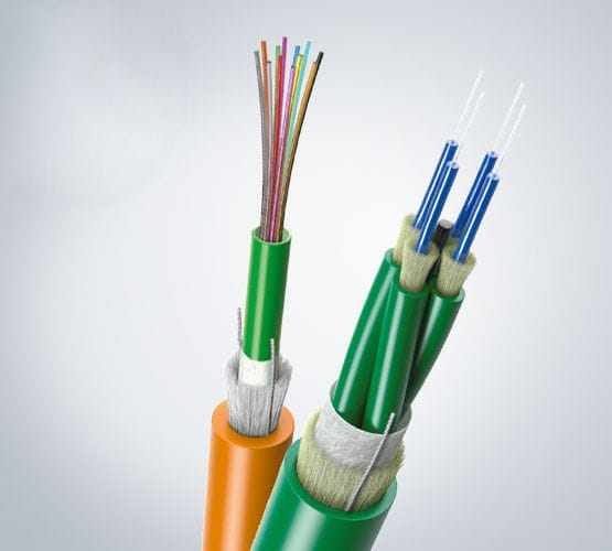Optical data cable / flexible / loose tube / halogen-free - LEONI