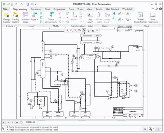 Electrical schematics software / CAD / 2D/3D - Creo Schematics - PTC ...