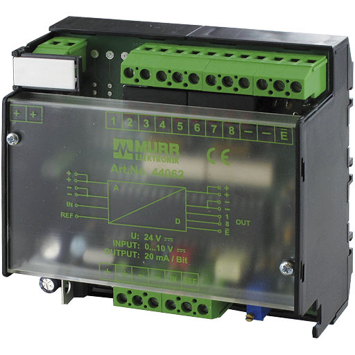 Analog-digital converter / serial / DIN rail mounted