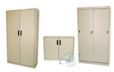 Storage Cabinet Free Standing Sliding Door Metal Armadio 02