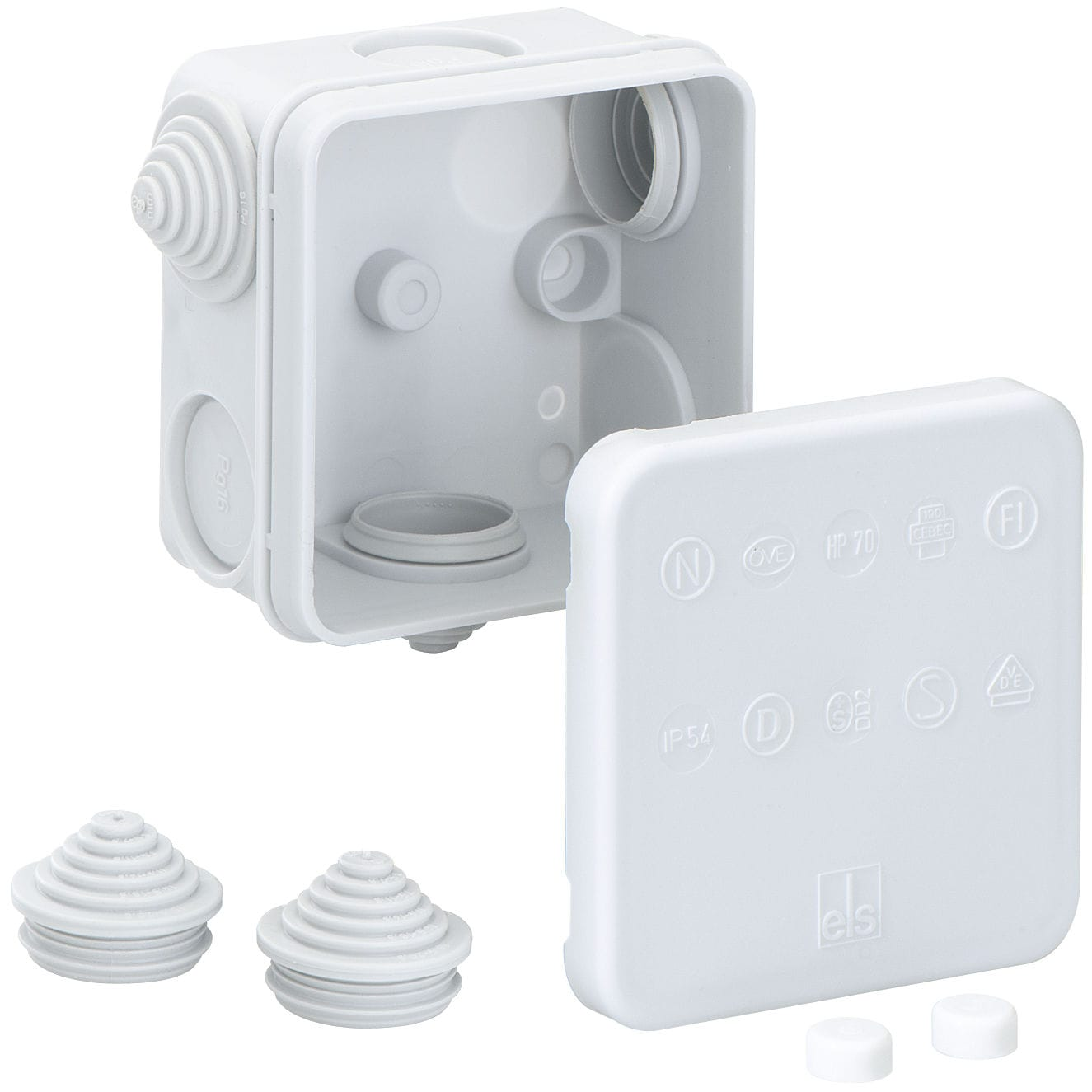 Wall mounted junction box ip55 polypropylene with elastic wall mounted junction box ip55 polypropylene with elastic membranes hp series sciox Choice Image