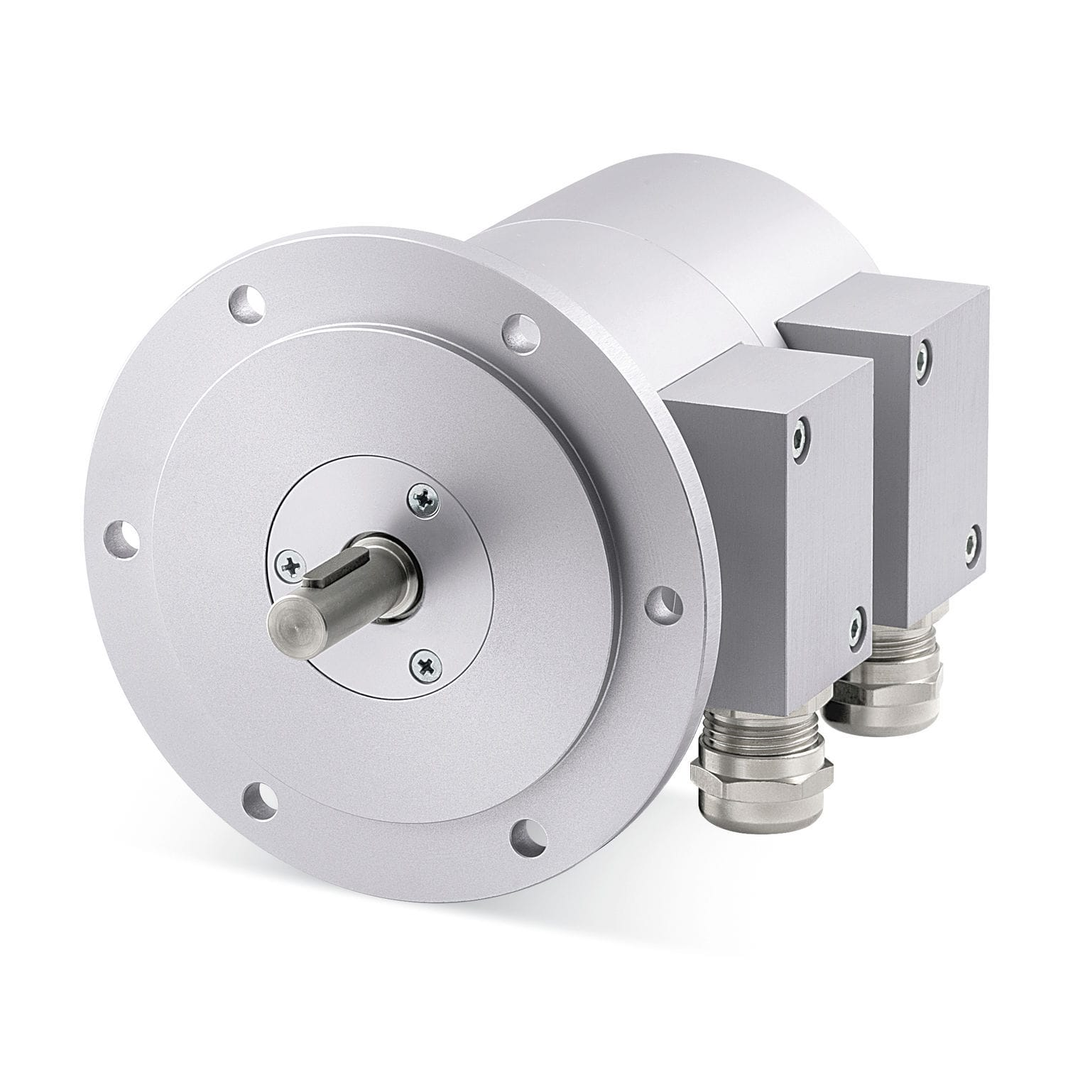 Incremental rotary encoder / solid-shaft / redundant