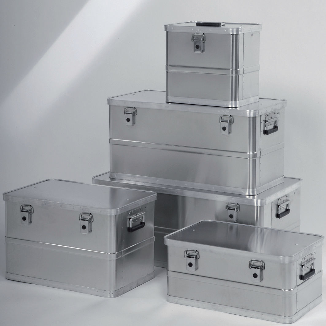 Aluminum crate storage transport with handles KA 44 series