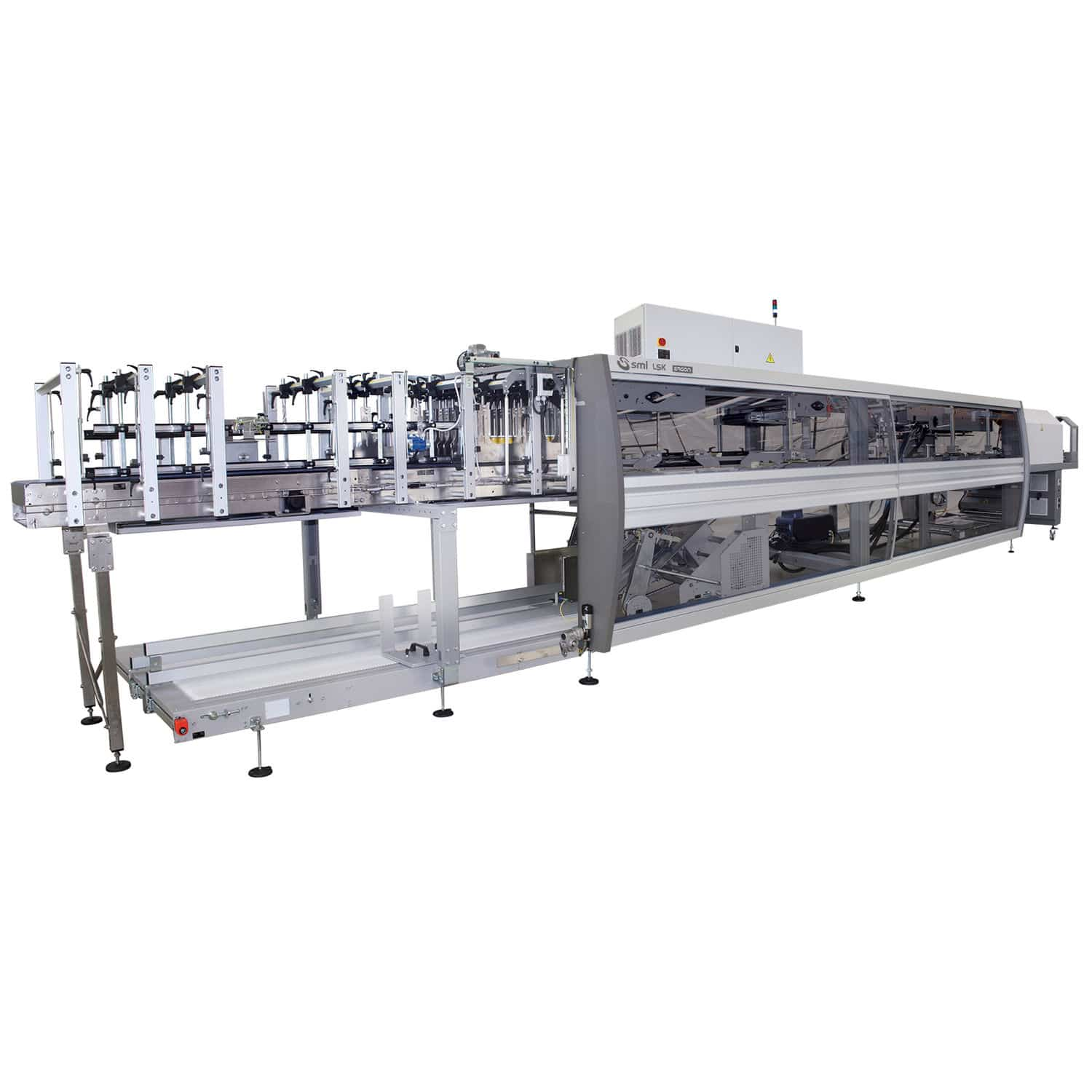 automatic shrink wrapping machine for bottles for trays for