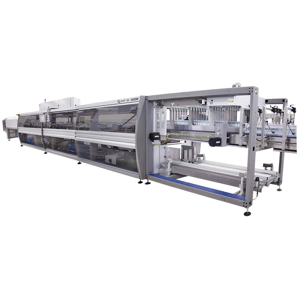 automatic shrink wrapping machine for bottles for trays box