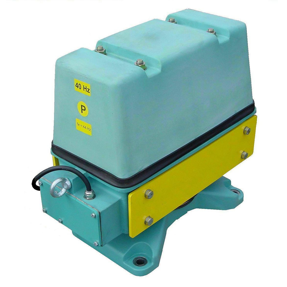 electromagnetic type vibrator for material hoppers