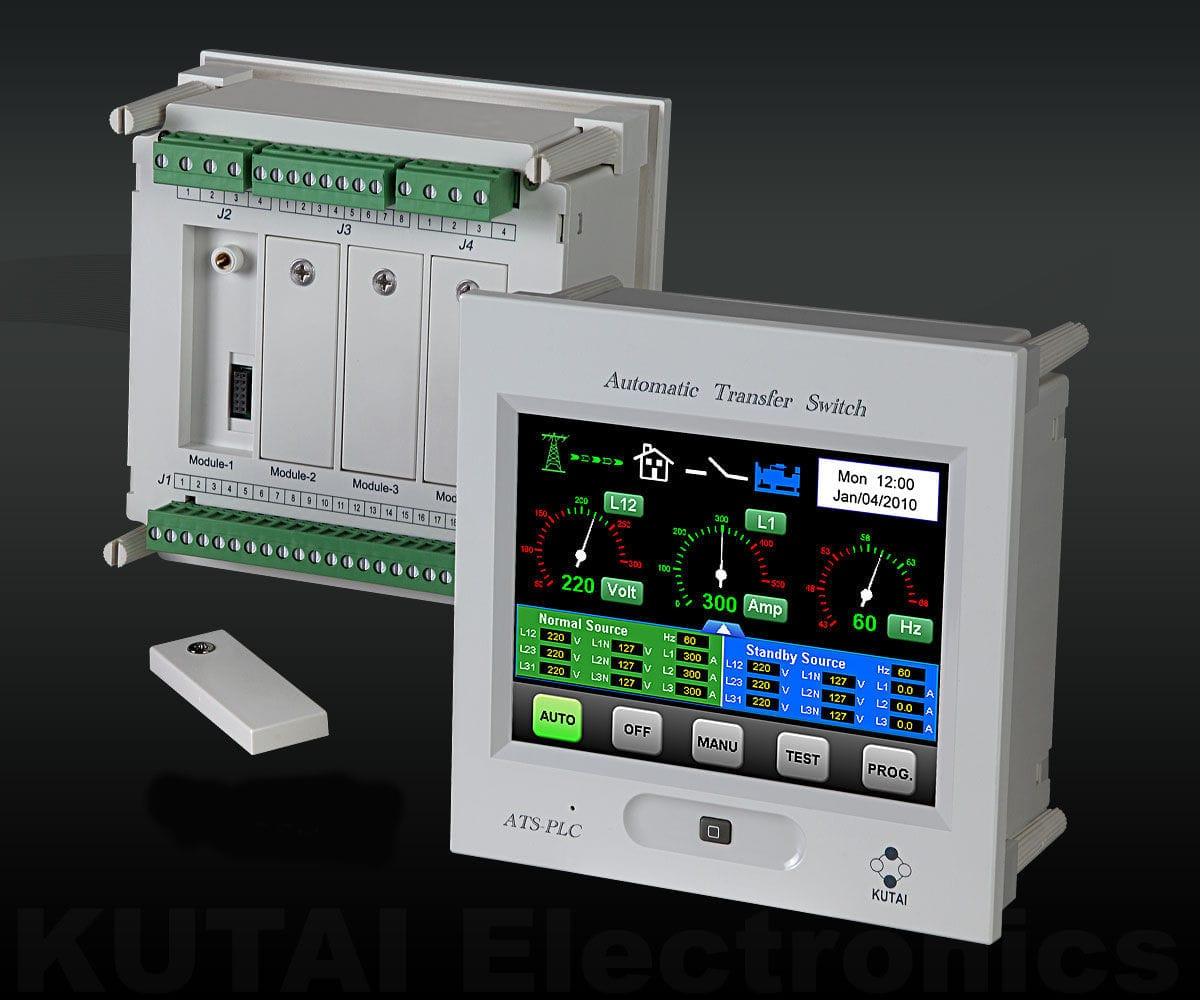 Automatic Transfer Switch Controller Ats Plc Kutai Electronics For Generator View