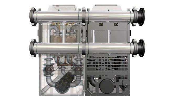 Refrigerated compressed air dryer / high-capacity - DES