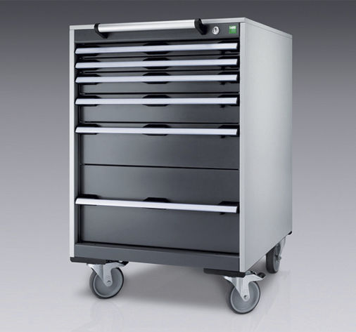 Storage Cabinet On Casters With Drawer Metal 650 X 650 Mm