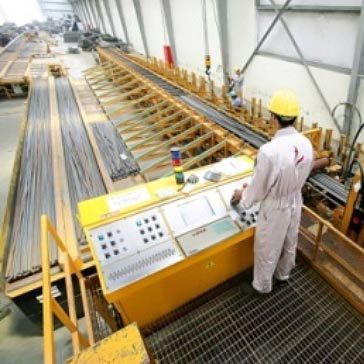 Iron cutting line / manually-controlled / for bars / large capacity Normal  Line Oscam