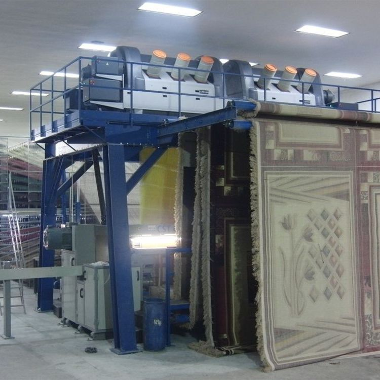 carpet weaving machine / for jacquard fabric / rapier