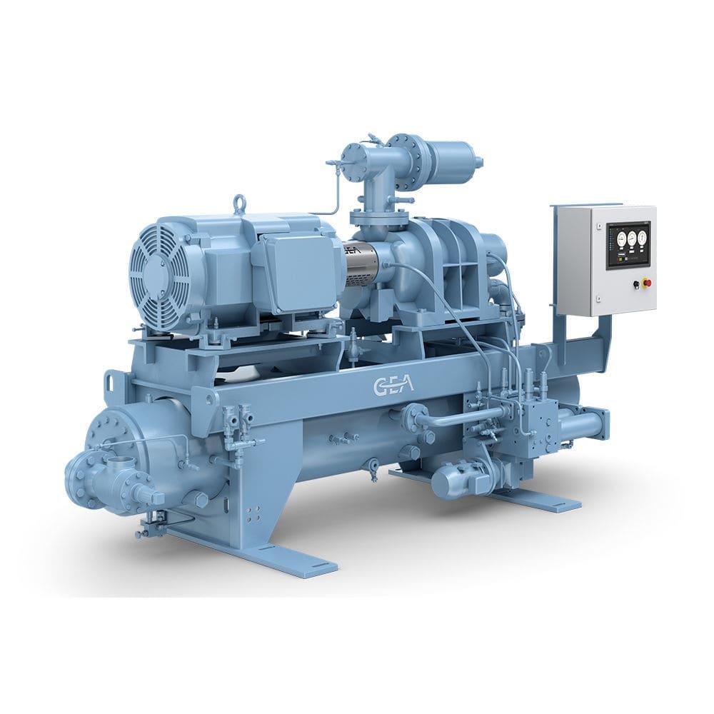 Screw refrigeration compressor / for industrial