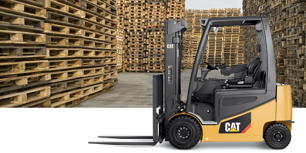 Electric forklift ride on handling 4 wheel 2epc 2ep series
