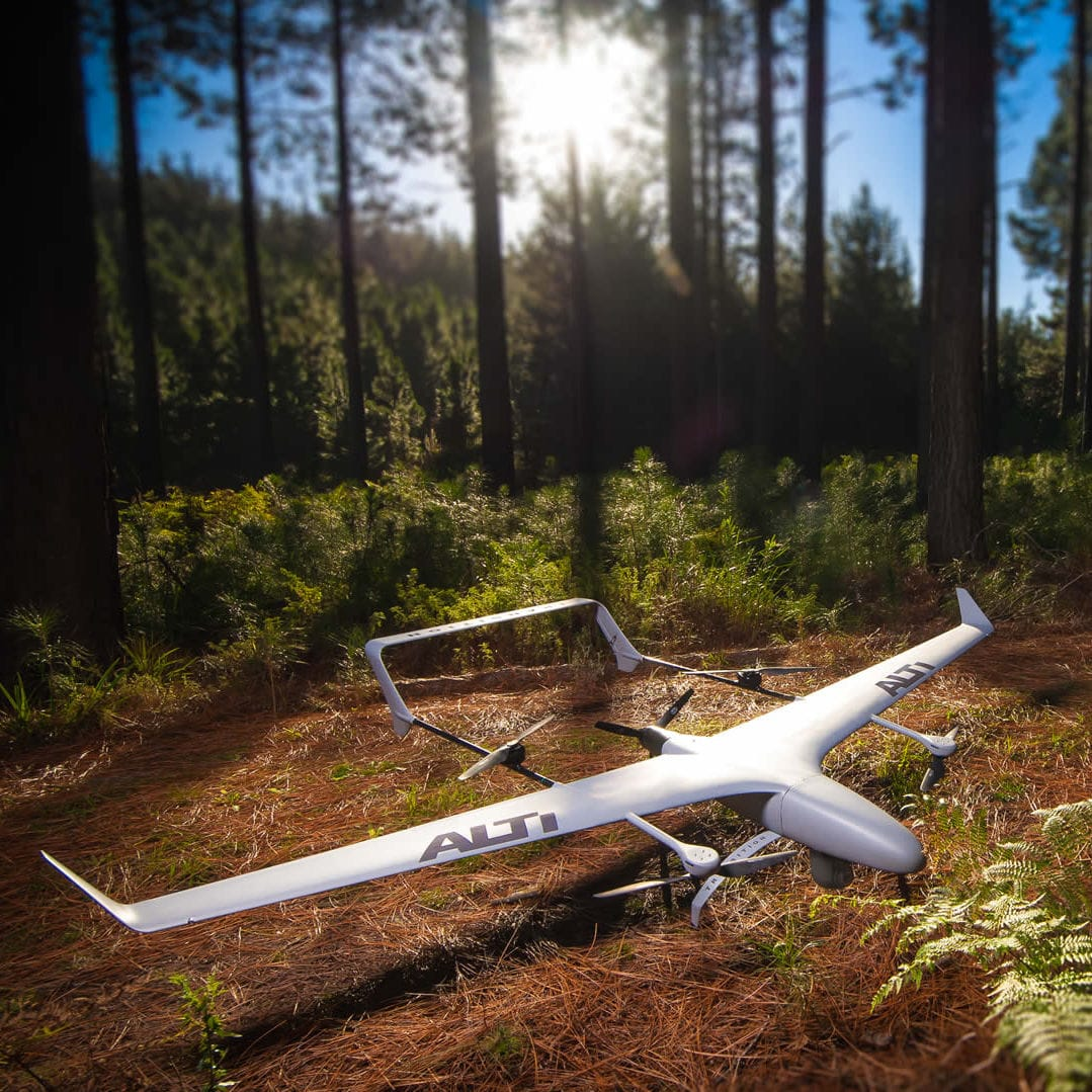 Hybrid UAV aerial photography monitoring carbon fiber