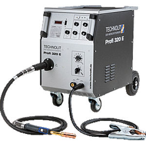 MIG-MAG welder / mobile / electronic / with 4-roll wire