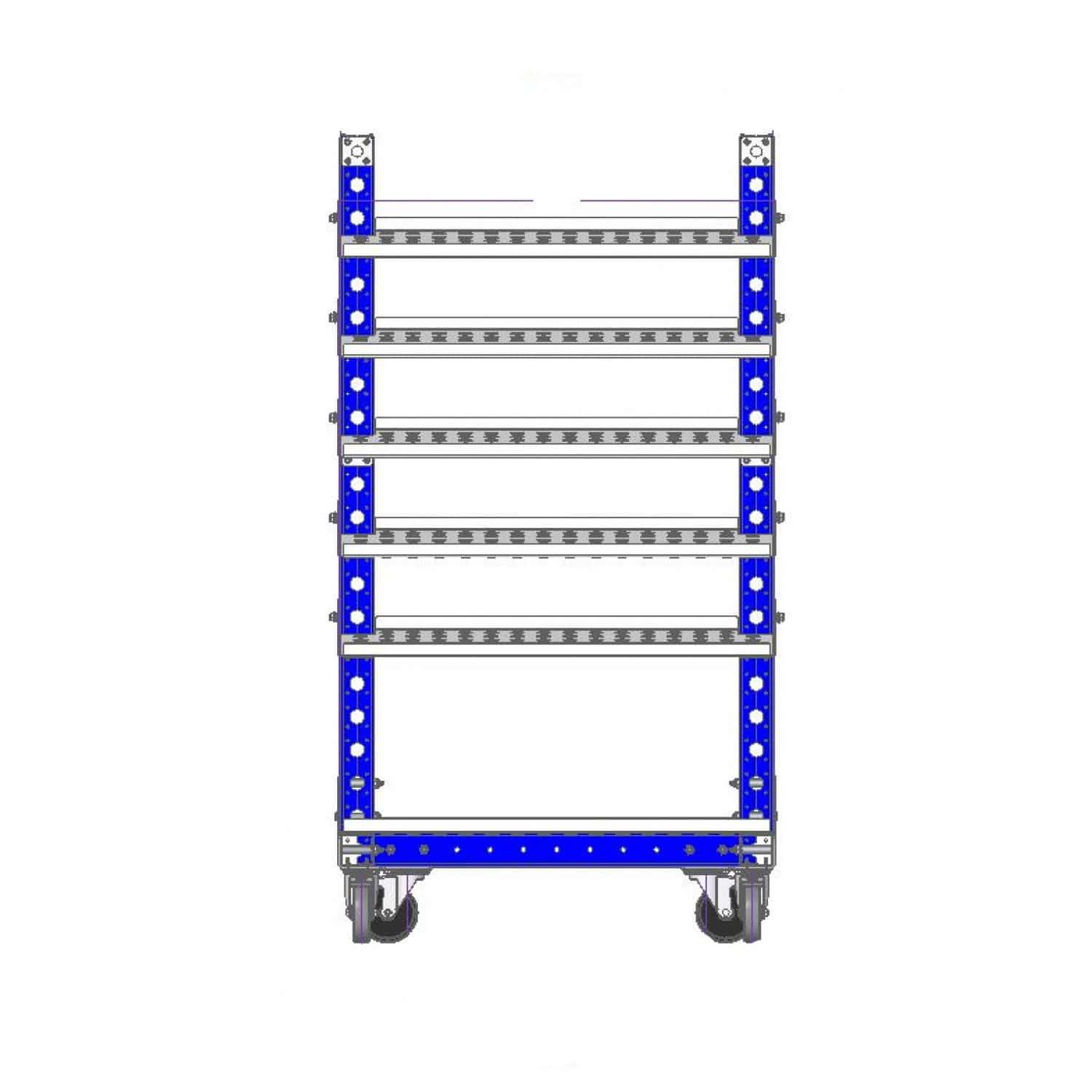 Transport cart / stainless steel / shelf / with swivel casters Q-100-0547  ...