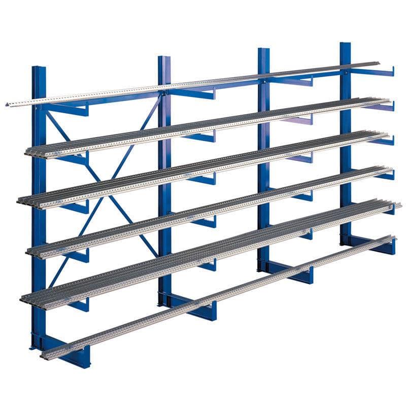 Gebrüder Schulte cantilever shelving for pipes lightweight single sided k