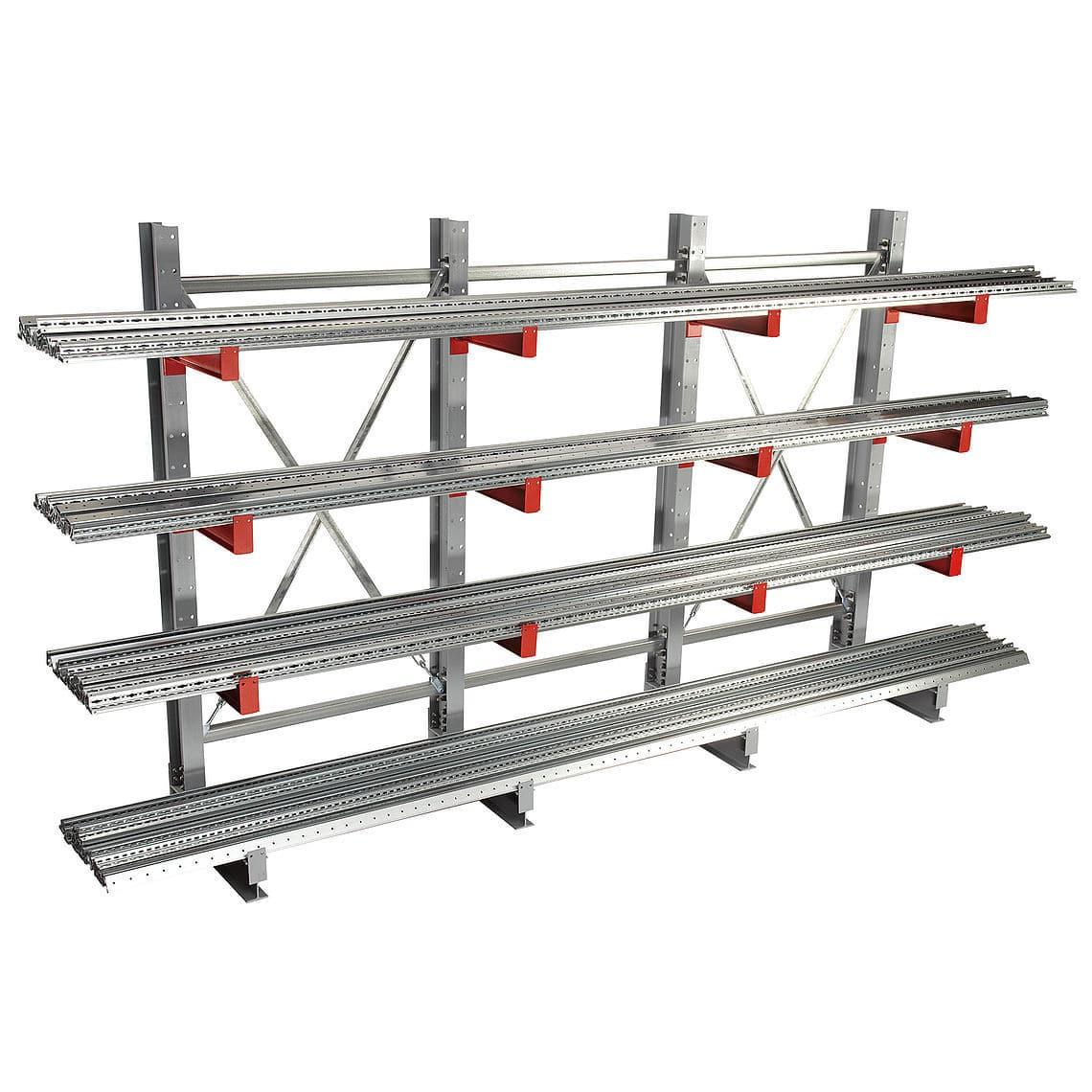 Gebrüder Schulte cantilever shelving for medium loads sided k 3000