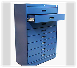 storage cabinet / free-standing / with drawer / metal & Storage cabinet / free-standing / with drawer / metal - Montel