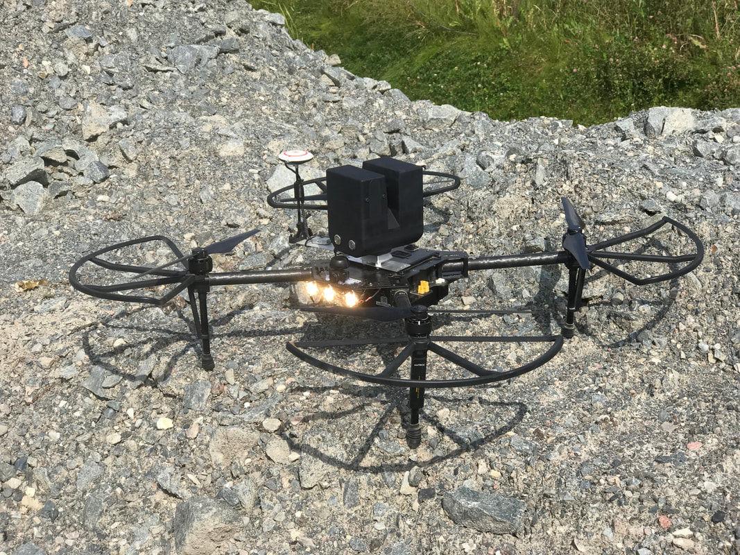 Quadrotor drone / civilian / for underground mining / inspection ...