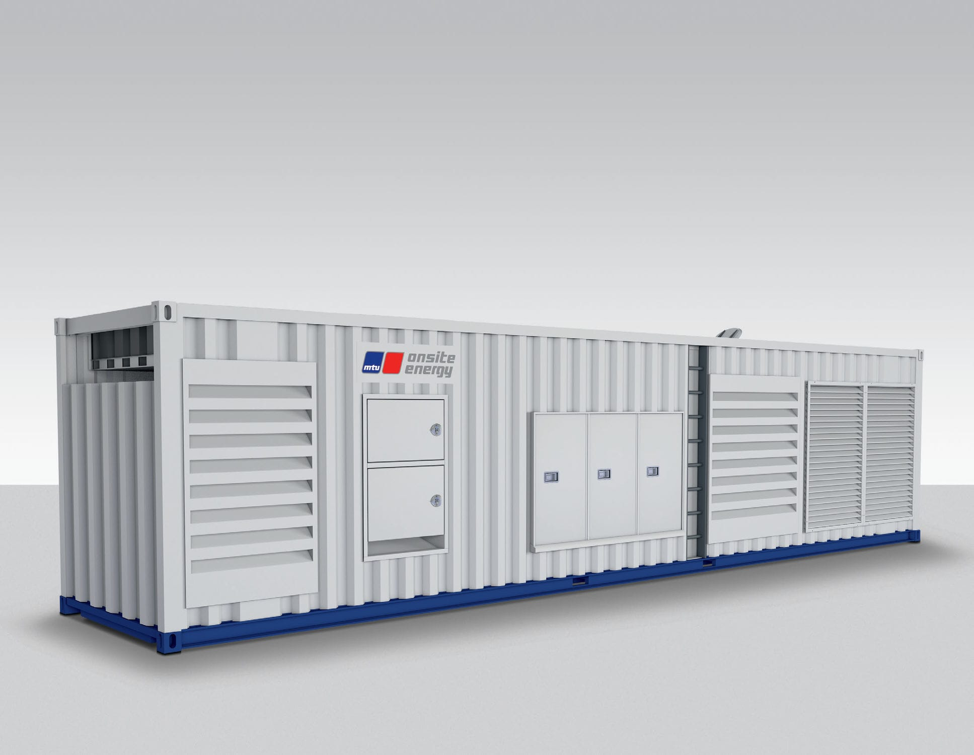 Three phase generator set natural gas stationary