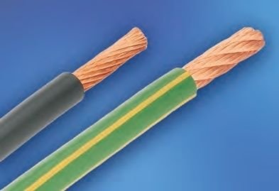 Insulated electrical wire / copper / PVC / flexible - 152, 153 ...