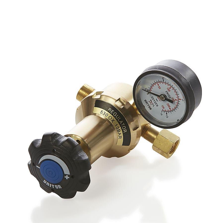 Gas pressure regulator / for oxygen / acetylene / single