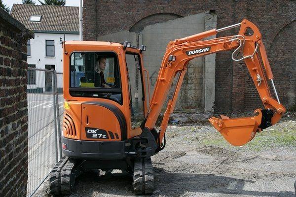 Mini boom excavator / crawler / Tier 3 / construction - DX27Z ...
