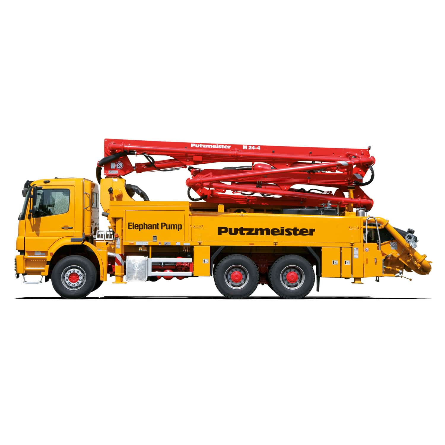 Construction truck-mounted concrete pump - M 24-4 - PutzmeisterConstruction truck-mounted concrete pump - M 24-4