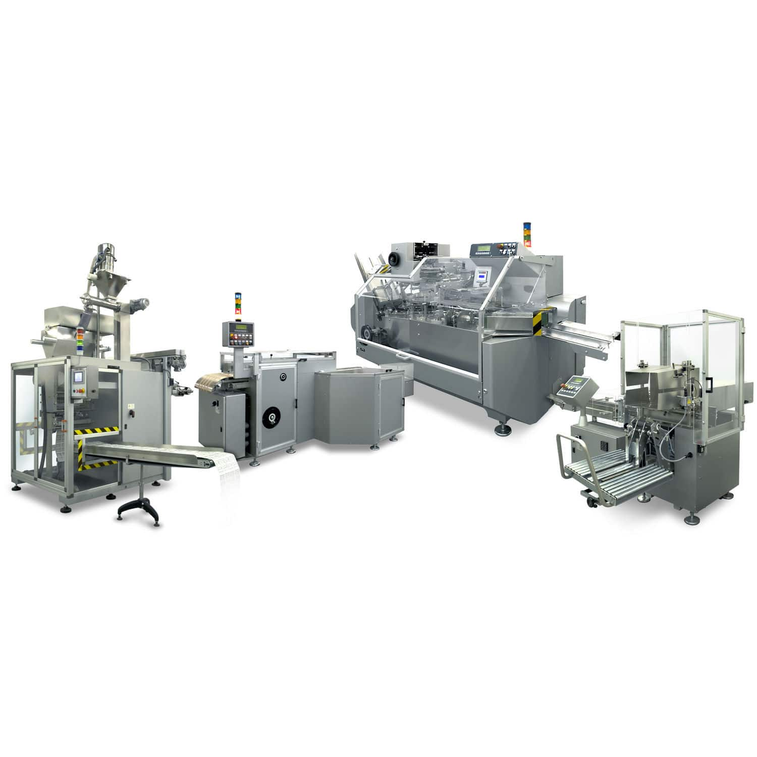powder packaging line for pharmaceutical products automatic